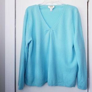 Talbots V-Neck Sweater 100% Cashmere Size 2X